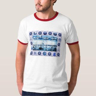 Vintage Dutch Delftware-Look/ Delft Blue Holland T-Shirt