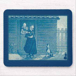 Vintage Dutch design, 1905,Family gathering Mouse Pad