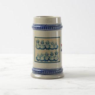 Vintage Dutch design, 1905,Little Dutch girls Beer Stein