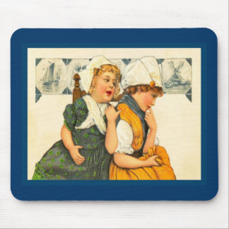 Vintage Dutch design, 1905,We are sisters Mouse Pad