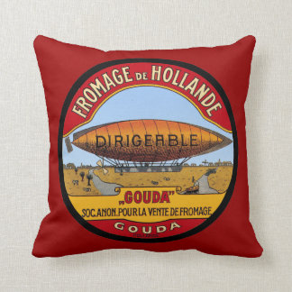Vintage Dutch Gouda ad Dirigable Pillow