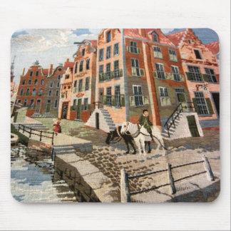 Vintage Dutch Image, Tapestry design Mouse Pad