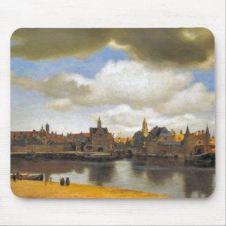 Vintage Dutch Image, Vermeer, view of Delft Mouse Pad