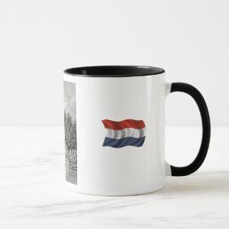 VIntage Dutch    Leiden, church and marketplace Mug