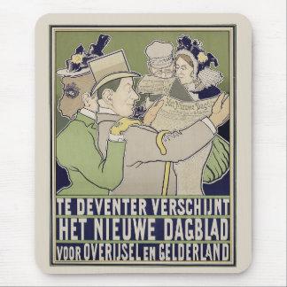 Vintage dutch newspaper advert mousepad