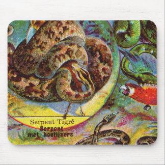 Vintage Dutch Snake Serpent Tigre Tiger snake Mouse Pad