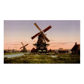 Vintage Dutch Windmills custom business cards