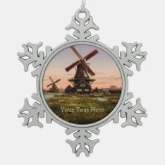 Vintage Dutch Windmills Custom Ornaments at Zazzle