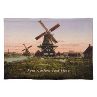 Vintage Dutch Windmills custom placemats