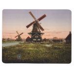 Vintage Dutch Windmills custom pocket journal