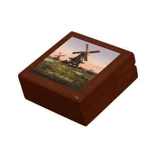Vintage Dutch Windmills gift / jewelry box