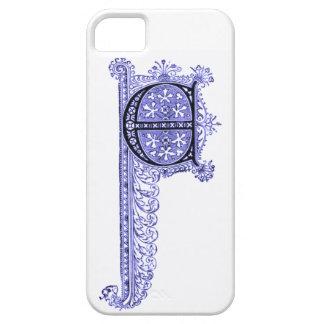 Vintage E inicial en caja púrpura del iPhone 5 iPhone 5 Case-Mate Coberturas