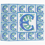 Vintage E inicial - monograma E