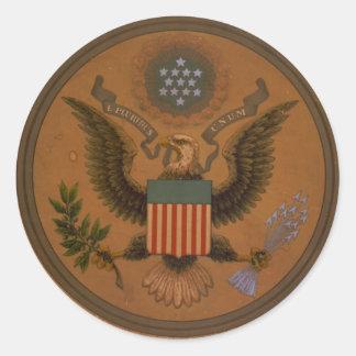 Vintage E Pluribus Unum Seal Sticker