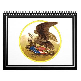 Vintage Eagle calvo americano Calendarios De Pared