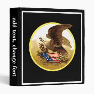 "Vintage Eagle calvo americano Carpeta 1"""