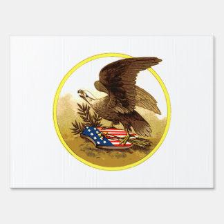 Vintage Eagle calvo americano Señal