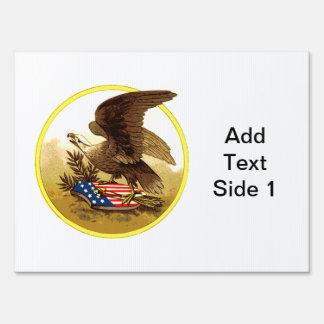 Vintage Eagle calvo americano Señales