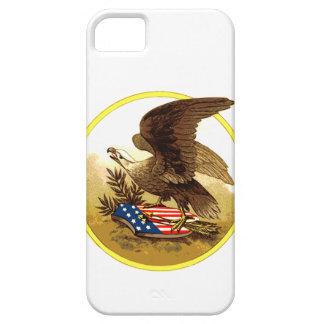 Vintage Eagle calvo americano w/Shield iPhone 5 Coberturas