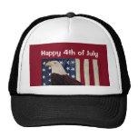 Vintage Eagle calvo el bandera americana el 4 de j Gorra