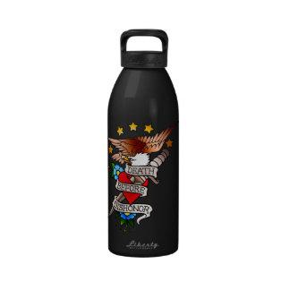 vintage eagle tattoo reusable water bottle