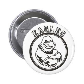 Vintage Eagles Mascot Pinback Button