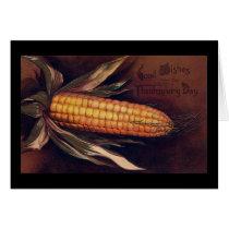 Vintage Ear of Corn Thanksgiving Card
