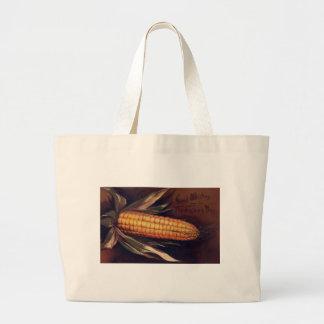 Vintage Ear of Corn Thanksgiving Large Tote Bag