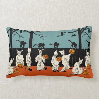 """Vintage Early 1900s Halloween """"Spooks On Parade"""" Lumbar Pillow"""