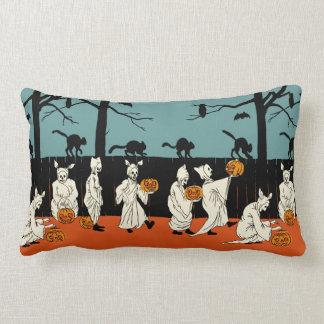 "Vintage Early 1900s Halloween ""Spooks On Parade"" Throw Pillow"