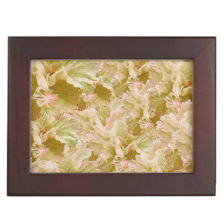 Vintage Earth Tone Floral Memory Box