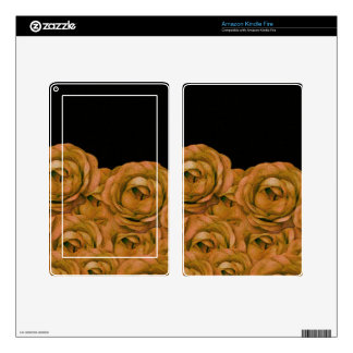 Vintage Earth Tone Roses Grunge Decals For Kindle Fire