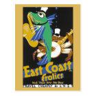 Vintage East Coast frolics LNER Railway travel ad Postcard