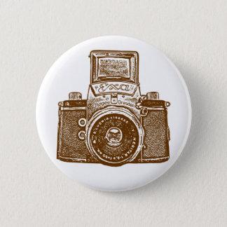 Vintage East German Camera - Brown Pinback Button