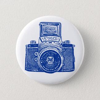 Vintage East German Camera - Dark Blue Pinback Button