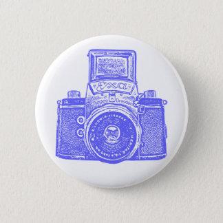Vintage East German Camera - Electric Blue Button
