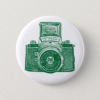 Vintage East German Camera - Forest Green Pinback Button