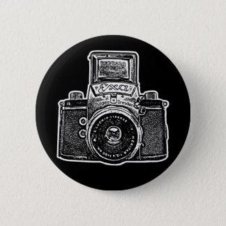 Vintage East German Camera II - Black Pinback Button