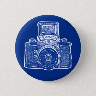 Vintage East German Camera II - Dark Blue Pinback Button