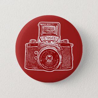 Vintage East German Camera II - Maroon Pinback Button