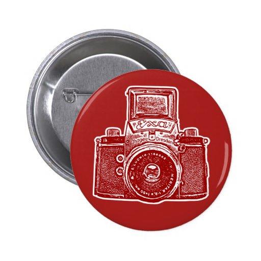 Vintage East German Camera II - Maroon Pins