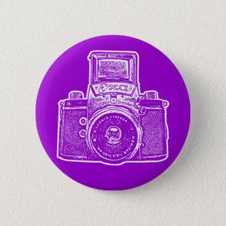 Vintage East German Camera II - Purple Pinback Button