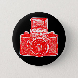 Vintage East German Camera II - Red Button