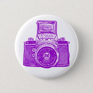 Vintage East German Camera - Purple Button