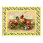 Vintage Easter, 1930s, Hen and chicks Postcard
