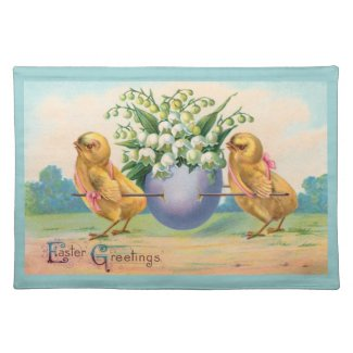 Vintage Easter placemat
