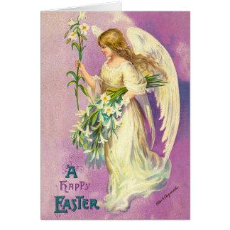 Vintage Easter Angel Blessings Card