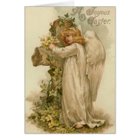 Vintage Easter Angel Card