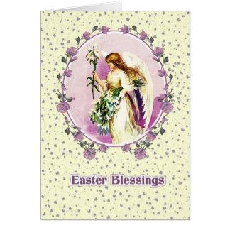 Vintage Easter Angel. Christian Easter Card