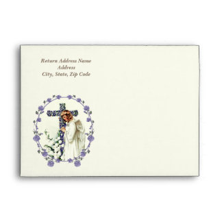 Vintage Easter Angel Custom Envelopes